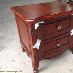 Tủ đầu giường gỗ tự nhiên hàng cổ điển