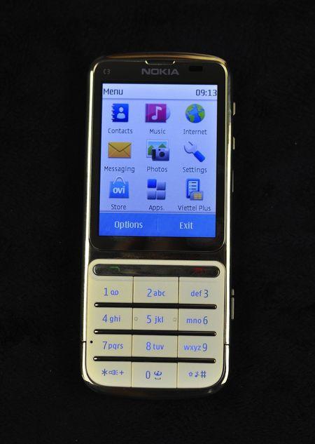 Điện thoại Nokia C3-01 gold 14