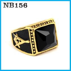 Nhẫn đá nam INOX cao cấp NB156 - BH vĩnh viễn ko đen