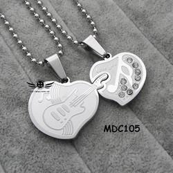 Dây chuyền đôi inox khắc tên MDC105