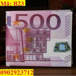 Ví Tiền Nam Hình Tiền 500 EURO Cao Cấp - B23