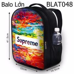 Balo Teen - Học sinh - Laptop Supreme nền bảy màu - VBLAT048