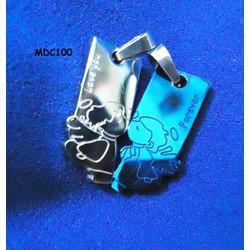 Dây chuyền đôi inox khắc tên MDC100x