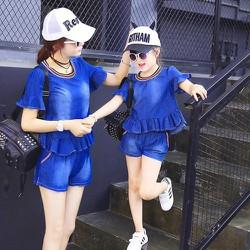 Thời trang mẹ và bé jean thun cao cấp