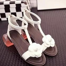 Giày sandal nữ đính hoa hồng-138