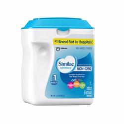 Sữa bột Similac Advance NON-GMO dành cho bé từ 0-12 tháng 658g của Mỹ