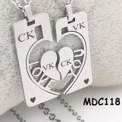 Dây chuyền đôi inox khắc tên MDC118
