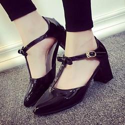 Giày nữ da bóng cho bạn gái thêm phần thanh lịch-130