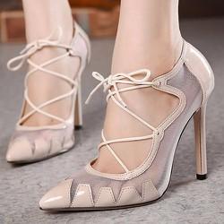Giày cao gót xuyên thấu phối dây cho bạn gái thêm phần bí ẩn- 111
