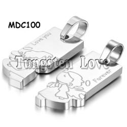 Dây chuyền cặp inox khắc tên MDC100b