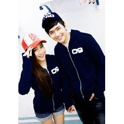 Áo khoác cặp đôi logo lá cờ sành điệu quà tặng yêu thương