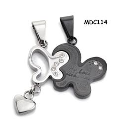 Dây chuyền cặp inox khắc tên MDC114