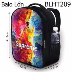 Balo Teen - Học sinh - Laptop Supreme nền màu loang - VBLHT209