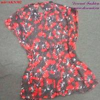 Áo kiểu nữ họa tiết trái cherry dễ thương AKN382