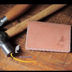 Ví Da Đựng Name Card 3 Ngăn Handmade Olug Mã SP 750