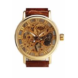 Đồng hồ cơ Sewor dây da cao cấp DHS01