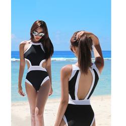 Áo bơi phối trắng đen gợi cảm - TT14021