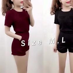 J709-Set nguyên bộ áo tay ngắn 2 nắp túi quần short