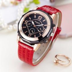 Đồng hồ thời trang cao cấp mặt lớn dây da - KT16008