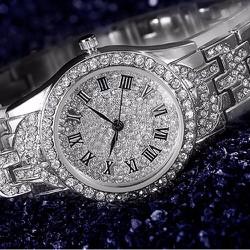 Đồng hồ thời trang nữ đính đá bạc kiêu sa cho phái đẹp-229