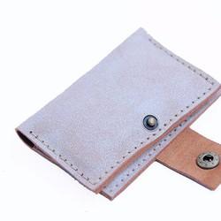 Ví Da Đựng Name Card 3 Ngăn Có Nút Bấm Handmade Olug Mã SP 878