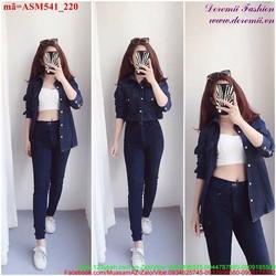 Áo sơ mi jean nữ phong cách trẻ trung sành điệu ASM541