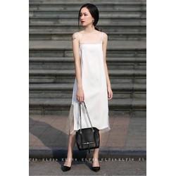 Đầm hai dây trắng