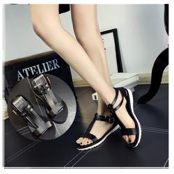 Giày sandal nữ bằng nhựa mềm mang êm chân