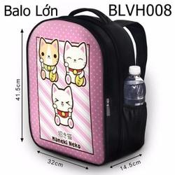 Balo Teen - Học sinh - Laptop Mèo may mắn Maneki Neko - VBLVH008