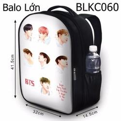 Balo Teen - Học sinh - Laptop BTS HOT - VBLKC060