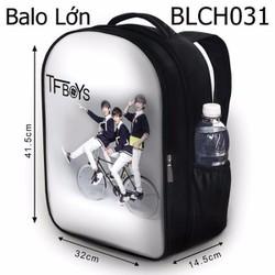 Balo Teen - Học sinh - Laptop Tfboys đi xe đạp - VBLCH031
