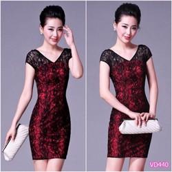 Đầm body ren - Size M,L - DV366