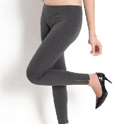 Quần legging nữ thun ôm khoá kéo