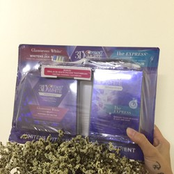 Set Miếng dán trắng răng Crest 3D White 2 hộp kèm 1 chải điện Oral B