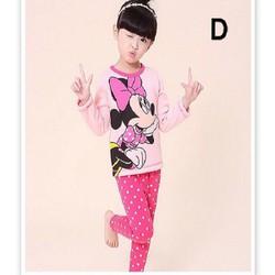 Bộ ngủ bé gái hình Mickey hồng dễ thương NX575