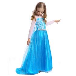 Đầm voan hóa trang tà dài công chúa Elsa mừng sinh nhật