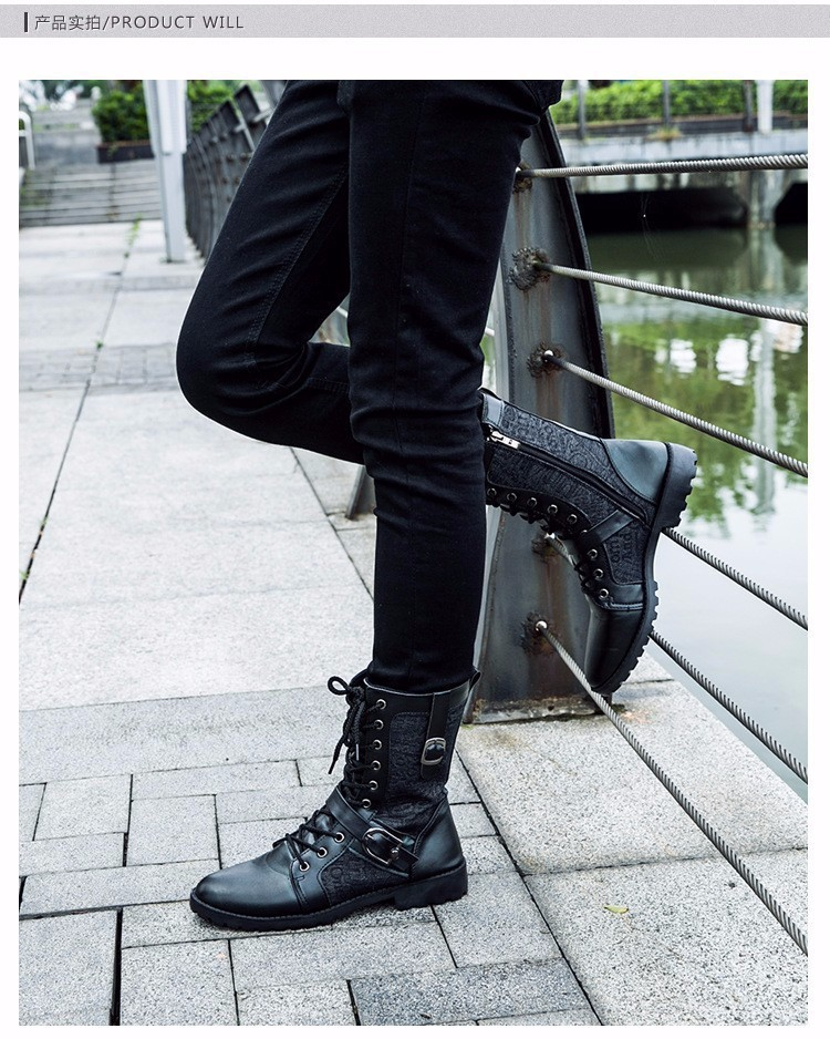 Giày Bốt Nam cao cấp Hàn Quốc - GN106 7