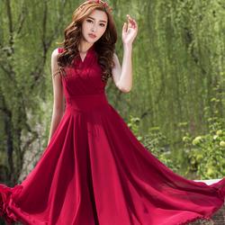 Đầm Maxi Eo Phối Cách Điệu