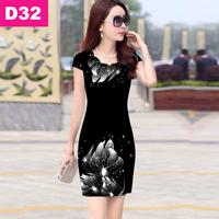 Đầm in 3D hoa hậu
