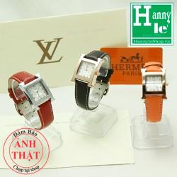 Đồng hồ nữ dây da Hermés cao cấp Full Box