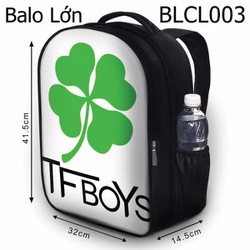 Balo Teen - Học sinh - Laptop Cỏ 4 lá Tfboys - VBLCL003