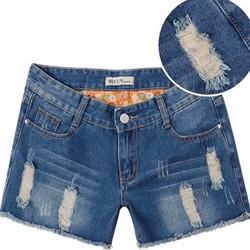Quần short jean nữ wash rách cực sành điệu cho các nàng - 125