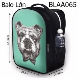 Balo Teen - Học sinh - Laptop Chó bug đeo kính - VBLAA065