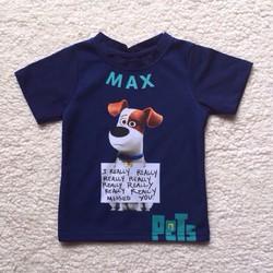 Áo thun 4 chiều in thú cưng 3D trên thun 2 da MPKids cho bé trai