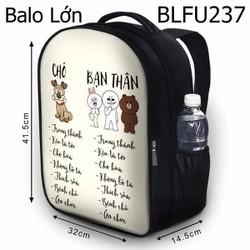 Balo Teen - Học sinh - Laptop Chó và Bạn Thân - VBLFU237