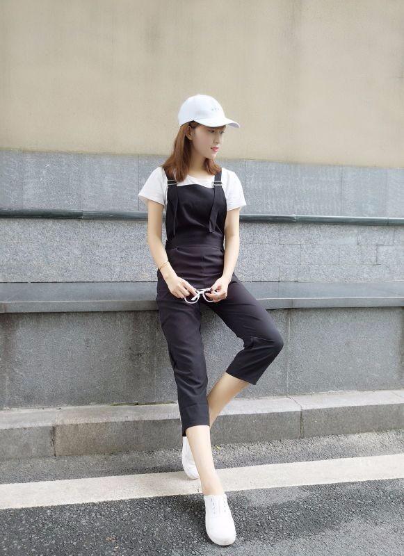 Bộ yếm jumpsuit streetstyle - 8942 - Hàng nhập 9