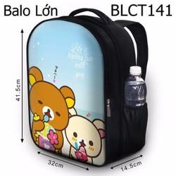 Balo Teen - Học sinh - Laptop Gấu Rilakkuma ăn kem - VBLCT141
