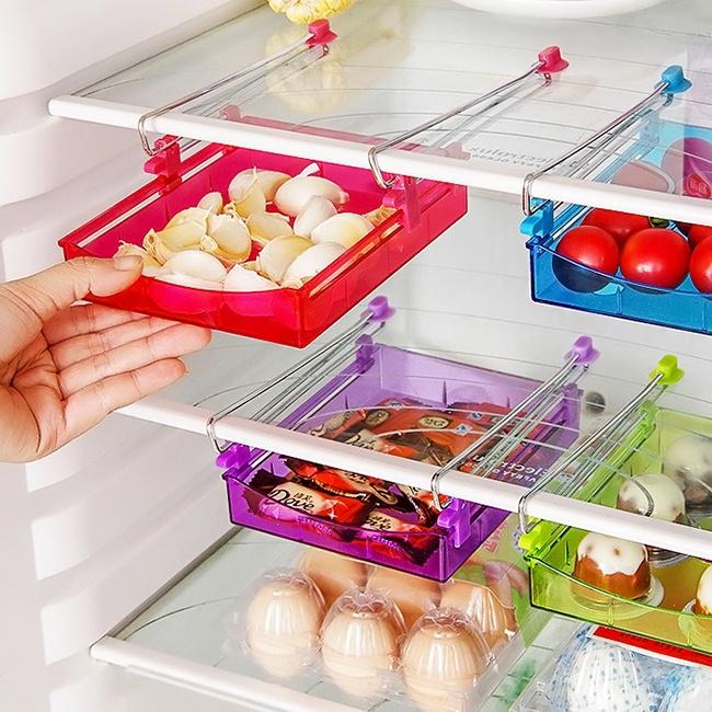 Khay kéo thông minh đựng đồ tiện ích cho tủ lạnh 4