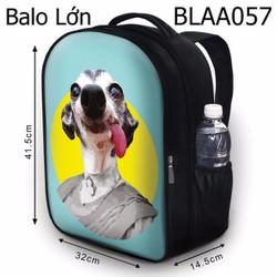 Balo Teen - Học sinh - Laptop Chú chó quý bà - VBLAA057
