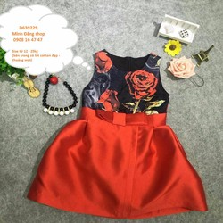 Đầm dự tiệc hoa hồng sắc đỏ sang trọng